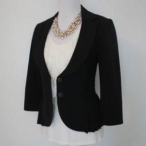 WHITE HOUSE BLACK MARKET Size 6 Black Blazer